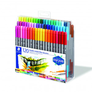 Staedtler Coloring Double-Ended Fiber-Tip Pen ( set of  120 )