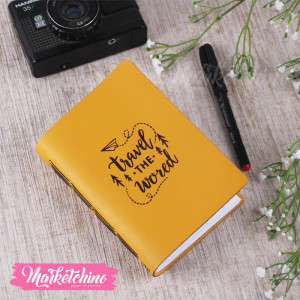 Leather Notebook-Travel The World