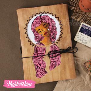 Leather Sketch Book-Sleep Girl