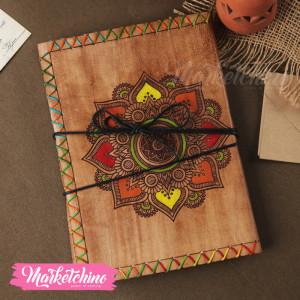 Leather Sketch Book-Mandala