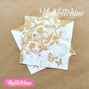 Tissue for Decoupage-Gold