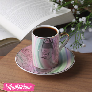 Porcelain Coffee Cup&plate-Colorful  1