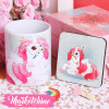 Set Of Ceramic Mug&Coaster-Unicorn