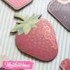 Wood Magnet-Strawberries