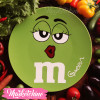 Ceramic Service Plate-M&M'S-Green 2 (Large )