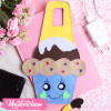 Mobile Holder Cup Cake-Light Blue