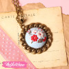 Necklace-Polymer Clay-Light Blue