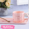 Cup & plate Sweet pink