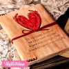 Leather Sketch Book Heart