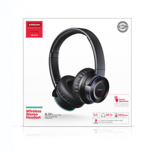 Joyroom Wireless  Stereo Headset - Right Side Touch Control  ( JR H16 ) original  Black