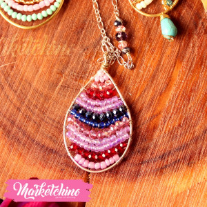 Necklace-Copper-Purple