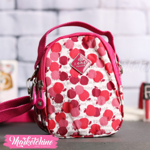 Cross Bag-Dots-Fuchsia