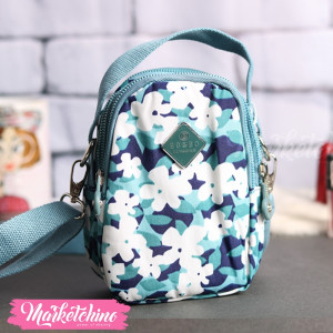 Cross Bag-Flowers-Light Blue