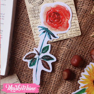 Bookmark-Red Flower