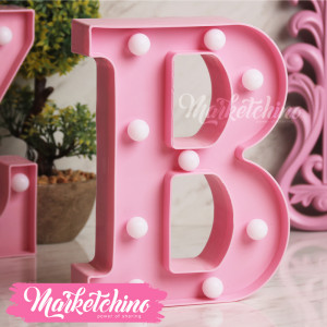 Decorative Letter B-Pink