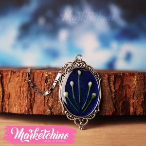Necklace-Flower-Dark Blue