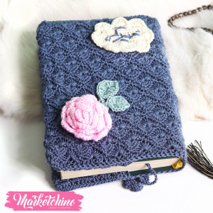 Quran Cover-Crochet-Dark Blue