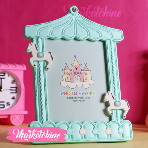 Photo Frame-Horse-Mint Green