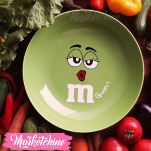 Ceramic Plate-M&M'S-Green 2
