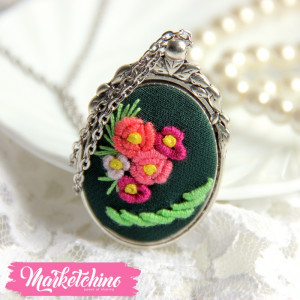 Necklace Flowers-Green