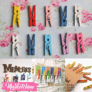 Wooden paper Clip-Colorful (10)