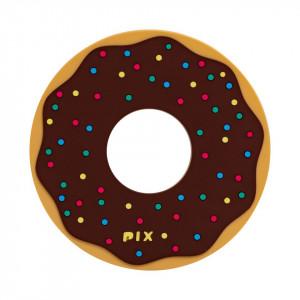 Silicon Coaster-Donuts-Black