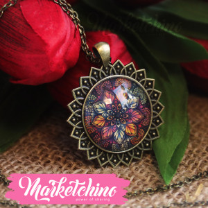 Necklace-Mandala-Brown