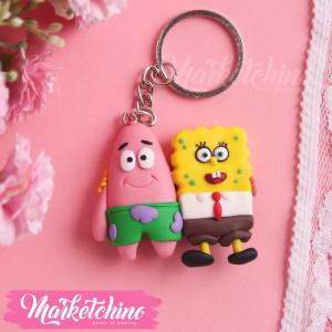 Keychain-Spongebob&Baset