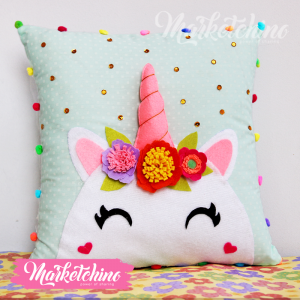 Unicorn Pillow-Mint Green