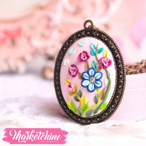 Necklace-Flowers-Pink