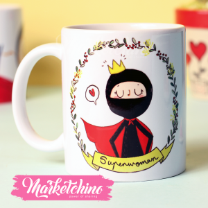 Printed Mug-Supermom-Black