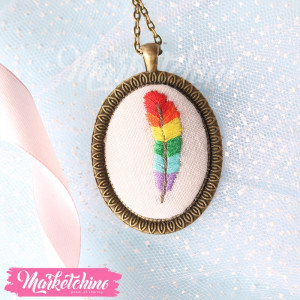 Necklace Colorful Feather