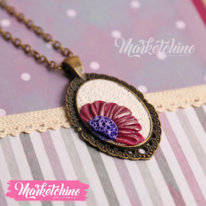 Necklace-Purple Flower