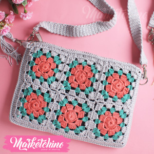 Cross Bag-Crochet-Gray&Simon