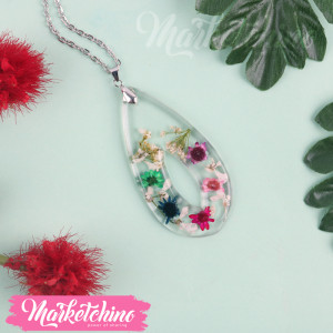 Necklace-Resin-Flower-Colorful