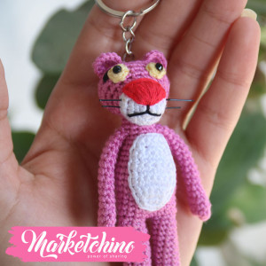 Keychain-Cochet-Pink Panther