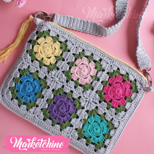 Cross Bag-Crochet-Colorful