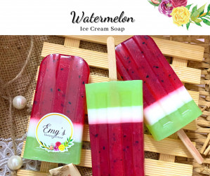 Hand Made Soap-Water Melon Ice Cream Soap