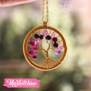 Necklace-Tree-Purple