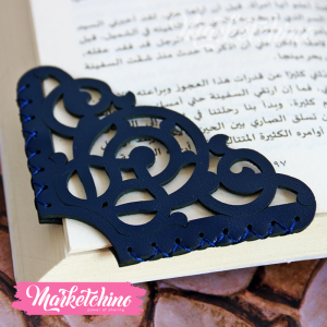 Leather Bookmark-Ornamented-Dark Blue