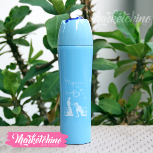 Thermal Mug-Love-Light Blue