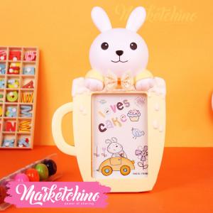 Photo Frame-Bunny-Yellow