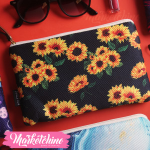 Make Up Bag-Sun Flower
