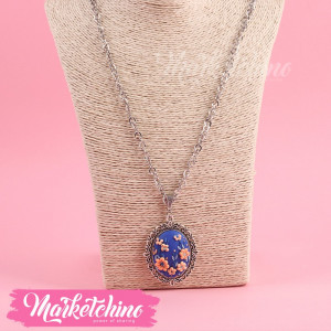 Necklace-Polymer Clay-Dark Blue