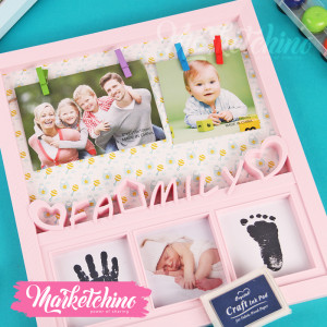 Photo Frame-Family-Pink