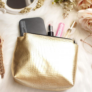 Make Up Bag-Gold