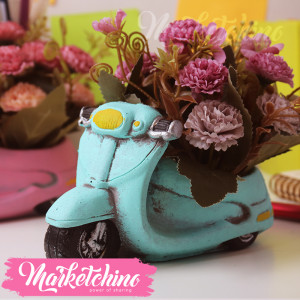Decor-Motorcycle-Purple Flower