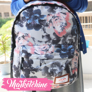 Backpack-Wen Ding-Flower-Black&Pink (original)