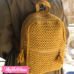 BackPack Crochet-Yellow 1