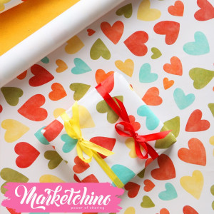 Paper Gift wrapping-Heart 5